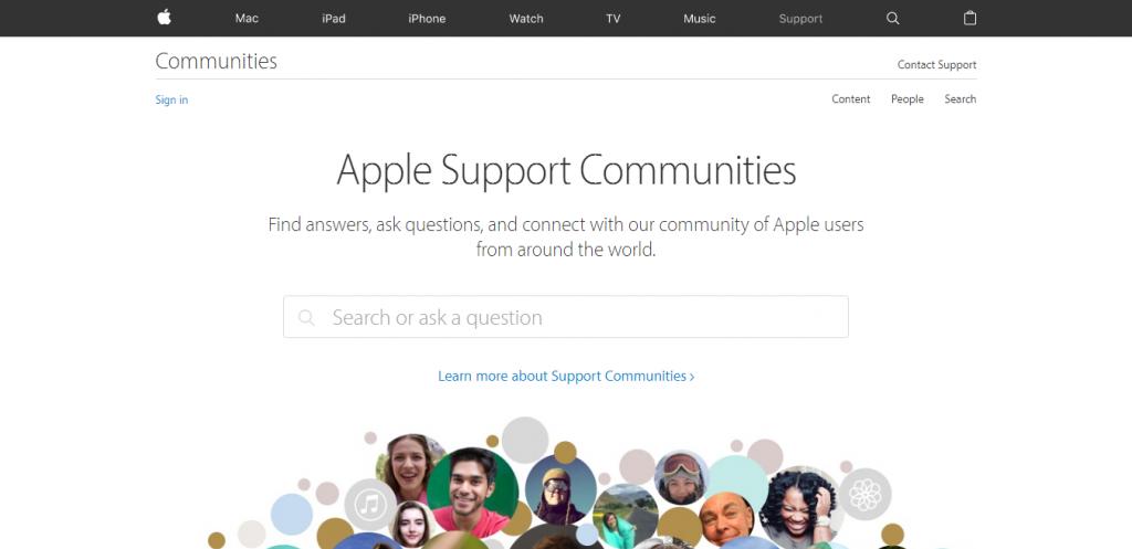 comunidad oficial de soporte apple