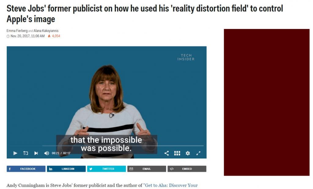 campo de distorción steve jobs