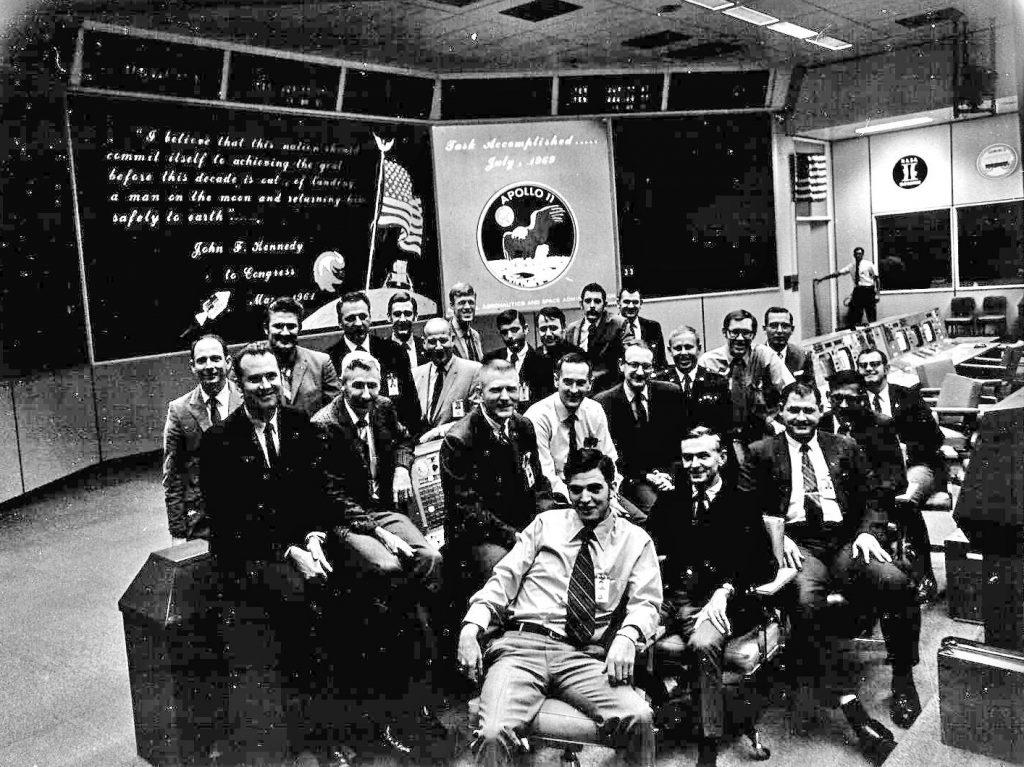 El equipo de Apolo 11 que llevó por primera vez al hombre a la luna.