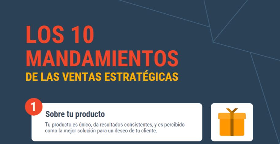 10 mandamientos de las ventas infografía - título